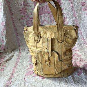 Huge Tracy Reese leather handbag weekender
